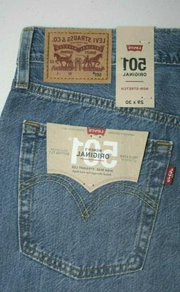 100% Cotton Ripped Levi's 501 Women's Original Fit Jeans:125
