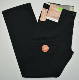 Dockers #10264 NEW Men's Black Flat Front Straight Fit SoftS