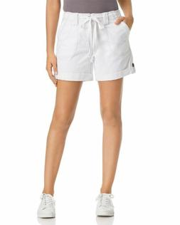 $135 JAG JEANS WOMEN'S WHITE RELAXED FIT DRAWSTRING WAIST CU