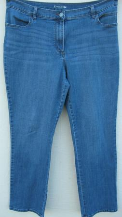 LEE 1889 relaxed Straight MOM Jeans size 16 blue faded mediu