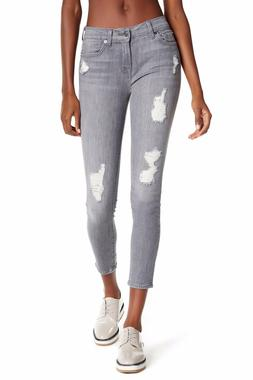 $189 7 For All Mankind Women's The Ankle Skinny Ripped Jeans