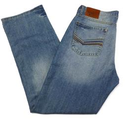 Wrangler 20x Mens 32 x 34 Cowboy Blue Denim Faded Detail Str