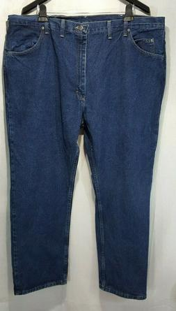 2930 Wrangler Relaxed Fit U-Shape Straight Leg Jeans Sz 46X3