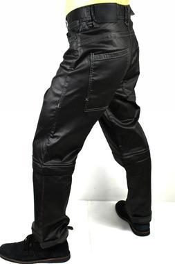 True Religion $299 Men's Urban Convertible Wide Leg Raw Blac