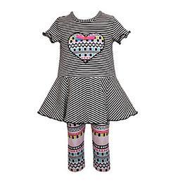 Bonnie Jean® Girls' 2T-6X 2-Piece Striped Top And Capri