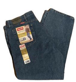 wrangler 42x30 Jeans New Relaxed Fit U Shape Medium Denim