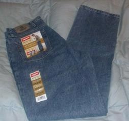 Wrangler 5 Star Relaxed Fit U Shape Straight Leg Blue Jeans