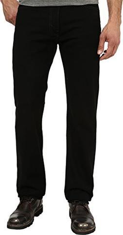 Levi's Men's 505 Regular Fit-Jeans, Black, 44W x 30L