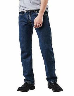 Levi's Men's 505 Regular Fit-Jeans, Dark Stonewash, 34W x 30