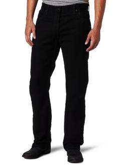 Levi's Men's 505 Regular Fit-Jeans, Black, 44W x 30L