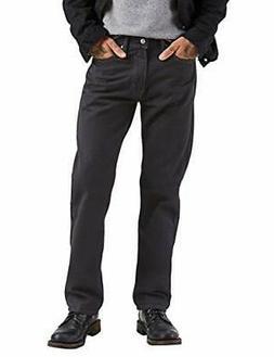 Levi's Men's 505 Regular Fit-Jeans, Black, 36W x 32L