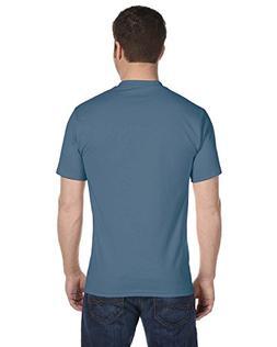 Hanes mens 5.2 oz. ComfortSoft Cotton T-Shirt-DENIM BLUE-XL-