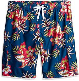 Kanu Surf Men's Big Grenada Extended Size Floral Volley Swim
