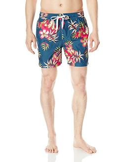 Kanu Surf Men's Monaco Swim Trunks, Grenada Denim Blue, Larg