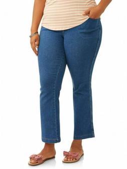 Women's Plus-Size 4-Pocket Stretch Bootcut Jeans, Size 3X --