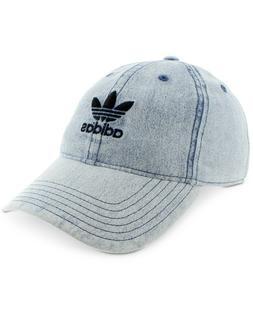 adidas Men's Originals Relaxed Strapback Cap, Washed Blue De
