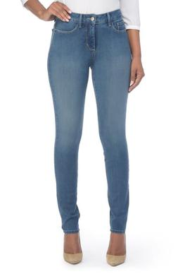 Women's Nydj Alina Colored Stretch Skinny Jeans, Size 8 - Bl