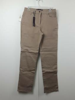 Gloria Vanderbilt Amanda 10 Ave Khaki Jeans Classic Fit Tape