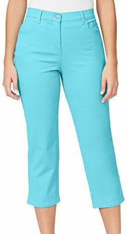 Gloria Vanderbilt Amanda Heritage Fit Denim Capri Jeans Aqua