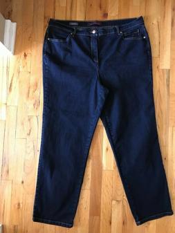 Gloria Vanderbilt Amanda Woman's Dark Blue Jeans 18W Avera