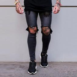 Sinners Attire Destroyed Jeans Grey + Free Next Day Delivery