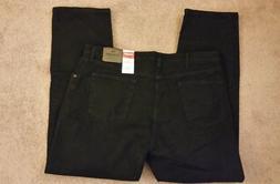 Wrangler Men's Regular Fit Comfort Flex Waist Jean, Black,