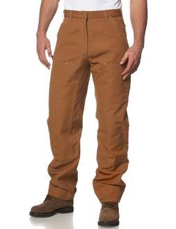 CARHARTT B01 Brown 34 34 Double Front Work Pants, Brown, Siz