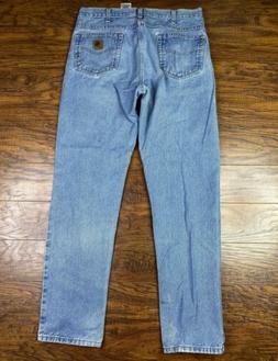 Carhartt B18-STW traditional fit jeans stonewash 36x 34 Blue
