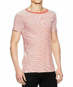 LEE Basic Casual Summer Stripe T-Shirt Faded Red Slim Fit Co