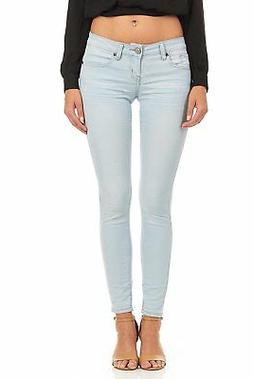 Cover Girl Low Rise Basic Cuffed Skinny Jeans for Women Juni