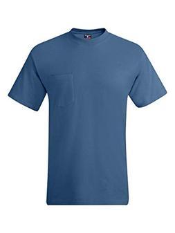 Hanes Beefy-T Adult Pocket T-Shirt Denim Blue 3XL