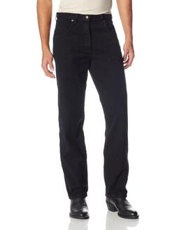 Wrangler Men's Big Rugged Wear Relaxed Fit Jean ,Overdyed Bl