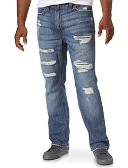 True Nation by DXL Big and Tall Deakin Distressed Athletic-F