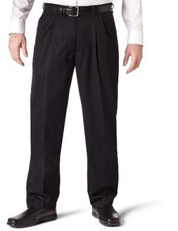 LEE Men's Big-Tall Stain Resistant Relaxed Fit Pleated Pant,