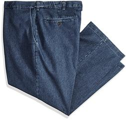 Haggar Men's Big and Tall Stretch Denim Expandable Classic F