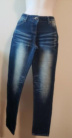 blue denim destroyed long jeans size 3