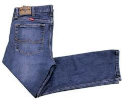 Wrangler Blue Jeans 34x29 Slim Straight Stretch Dark Wash Co