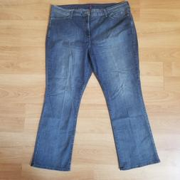 NYDJ Blue Jeans Women Plus Size 24W Bootcut Med Wash Lift Tu
