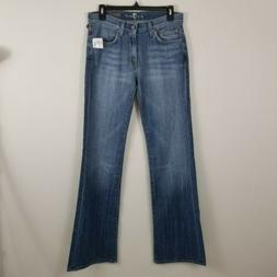 7 For All Mankind Bootcut Relaxed Fit Blue Jeans Women Sz 28
