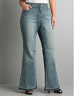 BRAND NEW PLUS Size LANE BRYANT Jeans Flare / Flared 14 16 1