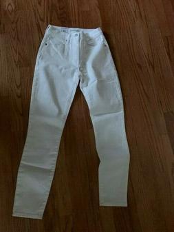 Lucky Brand Bridgette Jean White NWT Size 24X27 REG $119