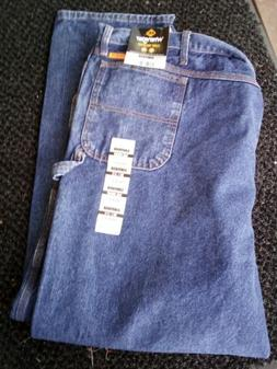 Wrangler Carpenter Flame Resistant Blue Jeans 56x32 Excellen