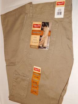 Wrangler Carpenter Jeans 36x32 British Khaki Tan 94OR0BH Loo