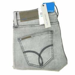 CK Calvin Klein jeans men's gray wash stretch denim sculpted