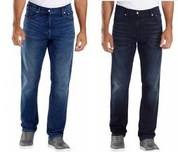 Calvin Klein CK Men's Straight Fit Jeans Blue & Dark Blue