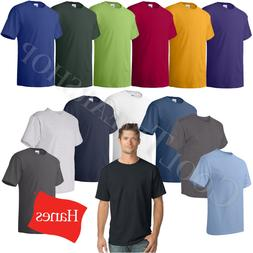 Hanes Comfortsoft Men Crewneck Short Sleeves Plain Cotton T-