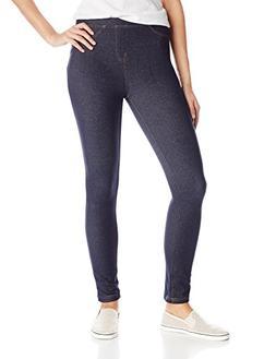 Hanes Women's Cotton Legging, Indigo, Small
