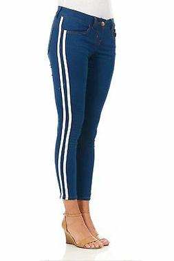 Cover Girl Side Striped Skinny Jeans for Women Juniors Plus