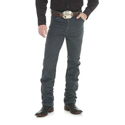 Wrangler Men's Cowboy Cut Slim Fit Jean, Charcoal Grey, 30W