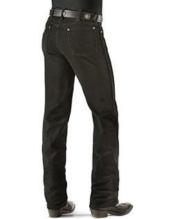 Wrangler Men's Cowboy Cut Slim Fit Jean,Black Stretch,36x30